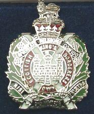 KOSB Kings Own Scottish Borderers Regiment Silver Plated lapel Badge