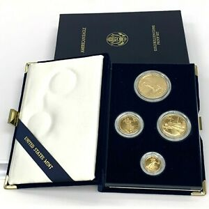 1988 American Eagle Gold Bullion Coins Proof Set $50, $25, $10, $5 MCMLXXXVIII
