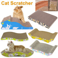 Cat Scratch Board Scratching Post Toy Gym Cardboard Sisal Pet Scratcher Mat