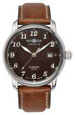 Zeppelin Graf Automatic LZ127 Date Display Brown Dial 8656-3 Watch