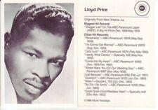 Lloyd Price 1986 Music Nostalgia Trading Card