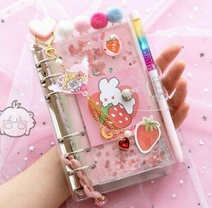 Kawaii Cherry Blossoms A6 Loose Leaf Diary Notebooks Journals Agenda Planner Set