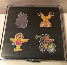 McDonald's Lapel Pin Gift Set Ronald Grimace Birdie Hamburgler 4 pack w/case