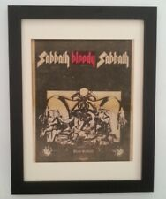 BLACK SABBATH*Bloody Sabath*1973*RARE*ORIGINAL*POSTER*AD*FRAMED*FAST WORLD SHIP