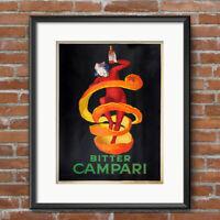 Leonetto Cappiello ART NOUVEAU Bitter Campari Kitchen Decor Art Print Poster 604