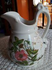 1885 Havilan&Co.Picher Limoges France hand painted on white Porcelain flowers de