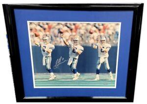 Troy Aikman Signed Autographed Framed Photo Dallas Cowboys UDA Upper Deck