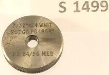 "S1499 7/32""-24 Whitworth NOT GO thread ring GAUGE, unused"