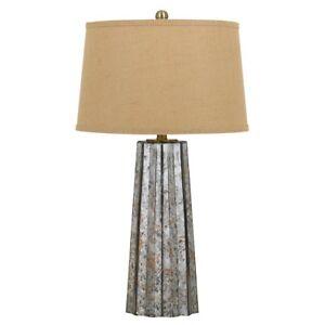 "Cal Lighting Bradenton 29.5"" Height Glass Table Lamp, Antique Mirror - BO-2635TB"