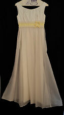Vintage Womens Maxi Dress  White  Dotted Swiss Dot  60s Hippie Wedding