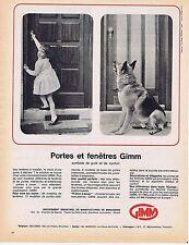 PUBLICITE ADVERTISING 025 1964 GIMM portes et fenêtres