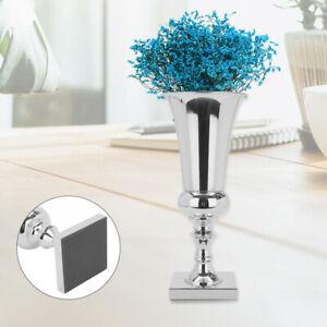 Large 45cm Stunning Silver Iron Luxury Flower Vase Urn Wedding Table Decor Gift