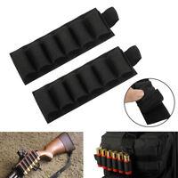 2X Tactical 6 Rounds 12/20GA Gauge Shotgun Shell Holder Gun Ammo Cartridge Pouch