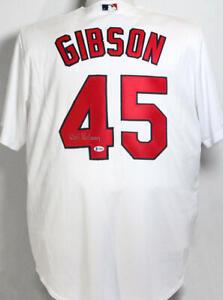 Bob Gibson Autographed St Louis Cardinals White Majestic Jersey- Beckett  COA *4