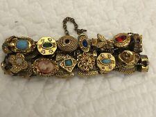 Strand Victorian Slide Bracelet Vintage Goldette Revival 2