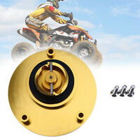Universal CNC Motorcycle Gold Gas Fuel Tank Cap Cover Valve Breather 37-39CM
