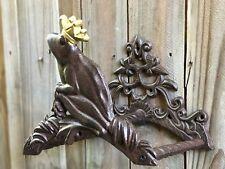 Vintage Rustic Cast Iron Frog Prince Garden Hose Holder