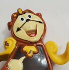 """DISNEY BEAUTY AND THE BEAST COGSWORTH WIND UP BURGER KING 2.5"""" TOY WORKING"""