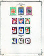 Sudan Stamps Early mint 1950's-1970's many tough to find on pgs