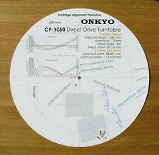 Onkyo CP-1050 Custom Designed Tonearm Cartridge Stylus Alignment Protractor