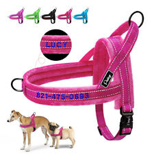Personalised Pet Dog Harness No Pull Embroidered With Name Reflective Adjustable