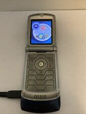 Motorola V3 Phone Razr Blue Slim As Is Read Description For Parts