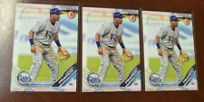 Lot of (3) WANDER FRANCO 2019 Bowman Draft Paper Tampa Bay Rays Rookie Card RC