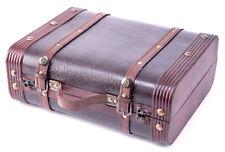 New Vintiquewise Decorative Wooden Leather Suitcase, QI003009
