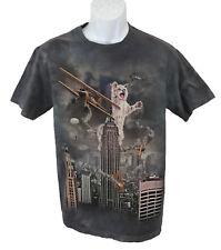 The Mountain Short Sleeve Crew Neck Cotton Cat Kong on Empire Building Shirt Sm
