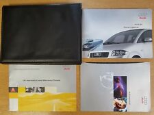 GENUINE AUDI A2 HANDBOOK OWNERS MANUAL WALLET 1999-2005 PACK D-490