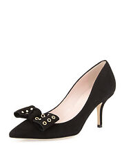 Kate Spade New York Justine Dress Pump Shoe Black Sz 7  MADE IN ITALY  $328