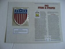 1943 Stars & Stripes Official MLB Cloth Embroidered Patch By Willabee & Ward