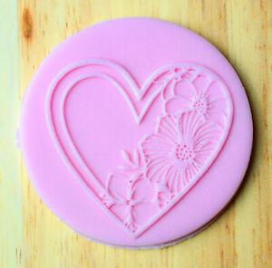 Love Heart Floral Debosser, Cookie Embosser Stamp Style 5 - 46