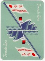 Playing Cards Single Card Old Art Deco Wide FRENCH LINE Shipping Advertising 2