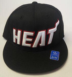 NBA Miami Heat Adidas Flat Visor Flex Cap Hat NEW!