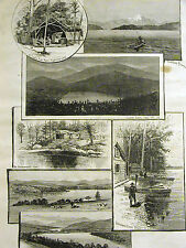 Adirondack LAKE PLACID GRAND VIEW HOUSE Hathorn White Face 1884 Art Matted