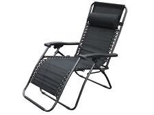 NUOVA gravità reclinabile a sole Pieghevole Sole Giardino Sedia reclinabile letto schienale reclinabile