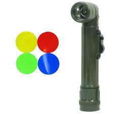 Armée Américaine Vert Olive Right-angle TL-142 Torche Repro Petit DEL Lampe de poche Filtres