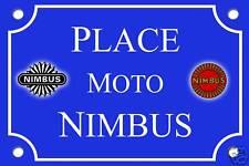 REPLIQUE PLAQUE RUE PASSION MOTO NIMBUS 30x20cm ALU