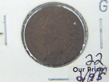 1875 US INDIAN HEAD PENNY 1c COIN G $.01