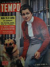 TEMPO N°30/ 29.LUG.1954 LE VACANZE DI MARIA PIA DI SAVOIA - AL K2 ASSALTO FINALE