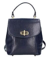 Genuine Leather bag/ backpack Bottega Carele BC726. Made in Italy.