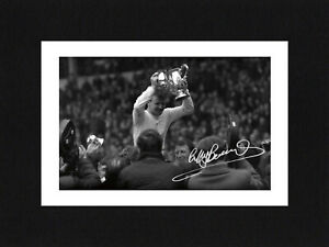 8X6 Mount BILLY BREMNER Signed Autograph PHOTO Ready To Frame Gift LEEDS UNITED