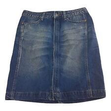 Levi Strauss Womens Skirt Size S / 10 Blue Distressed Denim Jean
