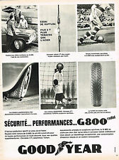 PUBLICITE ADVERTISING 015  1965  GOODYEAR 2    pneu G 800 RADIAL