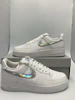 Nike Women's Air Force 1 07 ESS Iridescent Swoosh White CJ1646-100