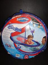 Swimways Baby Spring Float Sun Canopy Red/Blue Color New