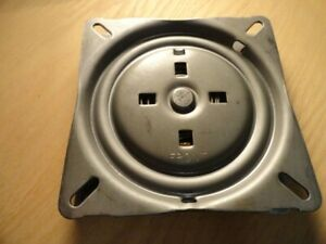 "Heavy Duty Bar Stool Swivel Plate 6.75"" For Stools with Backs"