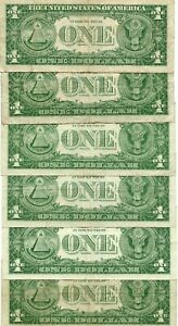 6- 1957****STAR*****  $1 One Dollar Silver Certificate   notes  21427
