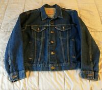 Vintage Levi Denim Jean Trucker Jacket size42 USA  70506-0216 90's red tab
